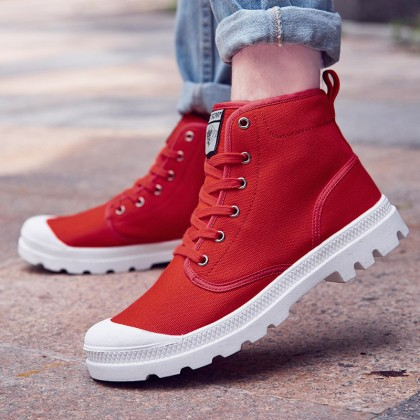 Men's Lace up High Cut Canvas Shoes